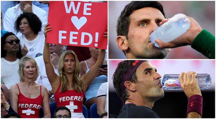 Đoković, Federer, navijači