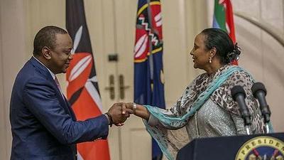 Uhuru's message to CS Amina after losing her husband Khalid Ahmed