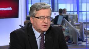 Bronisław Komorowski o rozmowie Jarosława Kaczyńskiego i Angeli Merkel