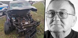 Straszna śmierć ks. Szymańskiego na autostradzie A2. Parafianie płaczą. Policja sprawdza, czemu duchowny mknął pod prąd...