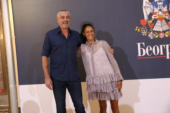 Olga Danilović sa ocem Predragom