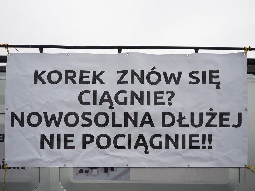 Protest mieszkańców Nowosolnej