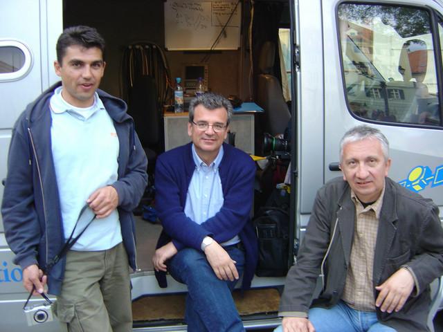 Sa čuvenim snimateljom Veljkom Đurovićem na jednom od rizičnih zadataka
