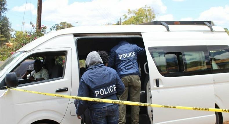 Kenyan police during a past investigation