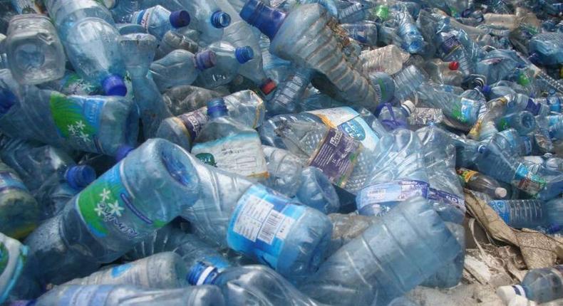 Plastic bottles dumped in a heap (Twitter)