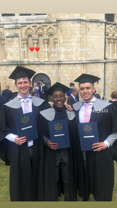 Machachari actor Ian 'Almasi' Munene graduates from The University of Kent (Instagram)