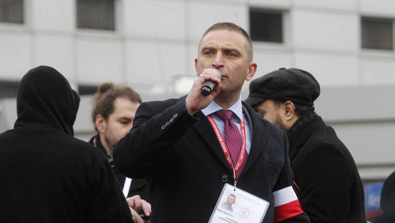 Przewodniczący stowarzyszenia Marsz Niepodległości Robert Bąkiewicz