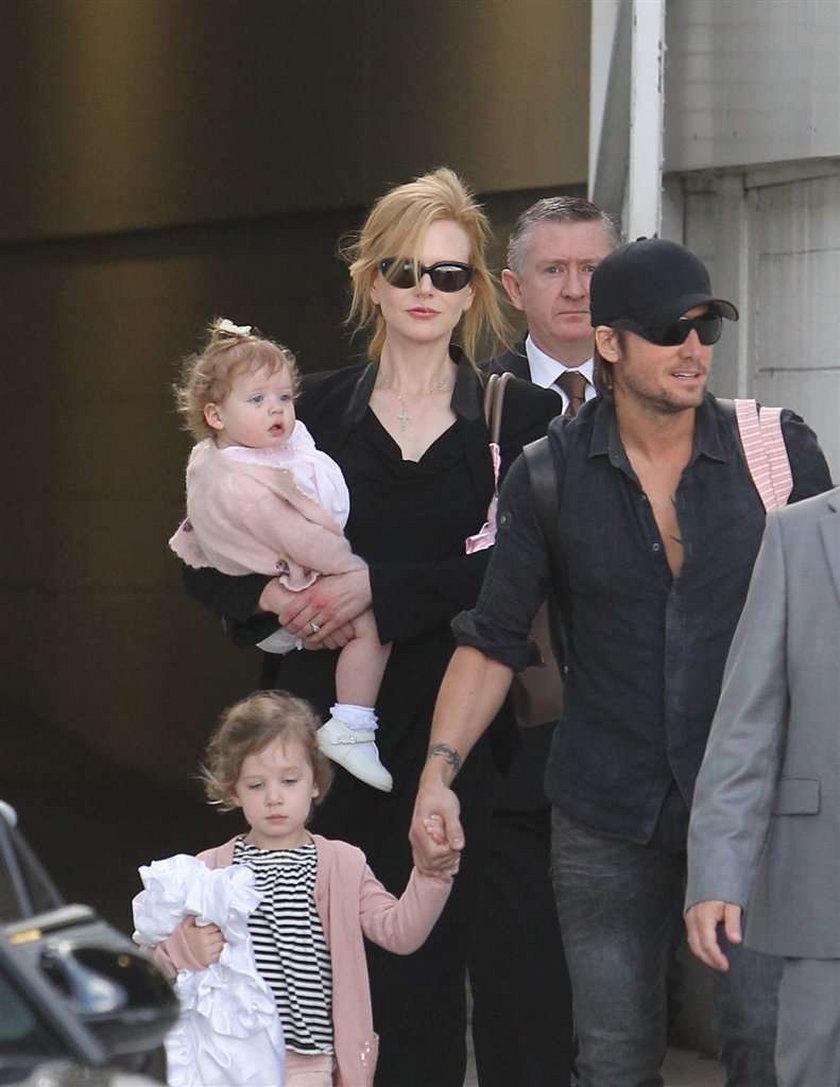 Kidman poleciała za mężem do Australii