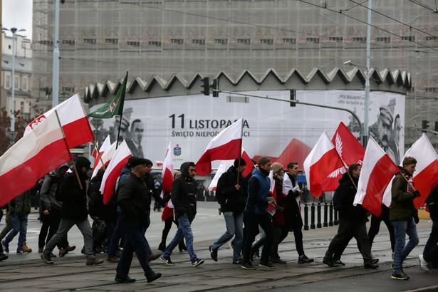Uczestnicy Marszu Niepodległości 2016