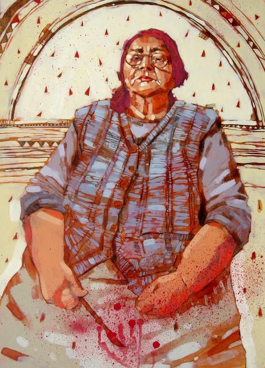 """""""Ciocia Margit"""" - obraz namalowany przez Przemka Kosakowskiego"""