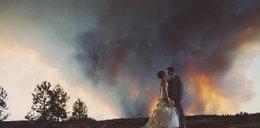 Szok! Ślub w pożarze