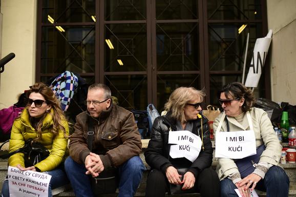 Sa jednog od protesta zbog duga u