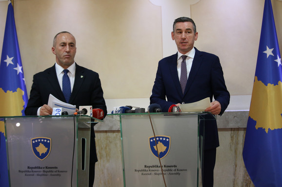Ramuš Haradinaj i Kadri Veselji