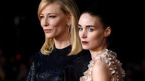 """Cate Blanchett i Rooney Mara na londyńskim pokazie filmu """"Carol"""""""
