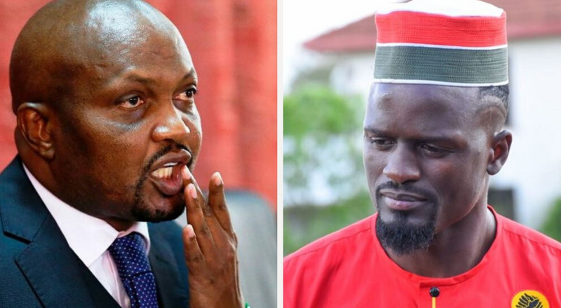 Moses Kuria tickles Mariga after losing Kibra by-election