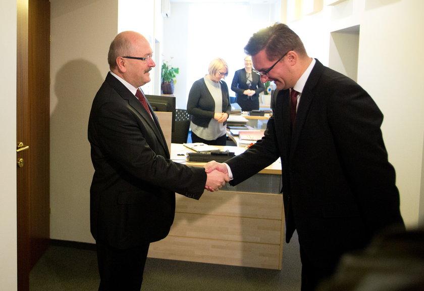 Prezydent Piotr Uszok i prezydent Marcin Krupa