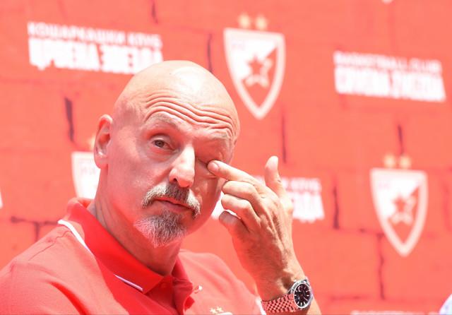 Saša Obradović, trener košarkaša Crvene zvezde