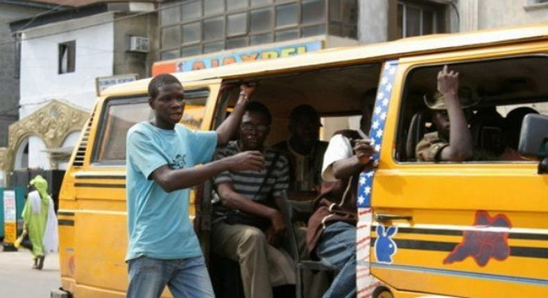 Lagos state trains bus conductors