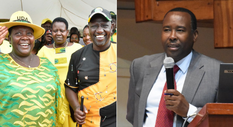 Deputy President William Ruto with Kajiado Eats MP Peris Tobiko and the MP's husband Kishanto Ole Suuji