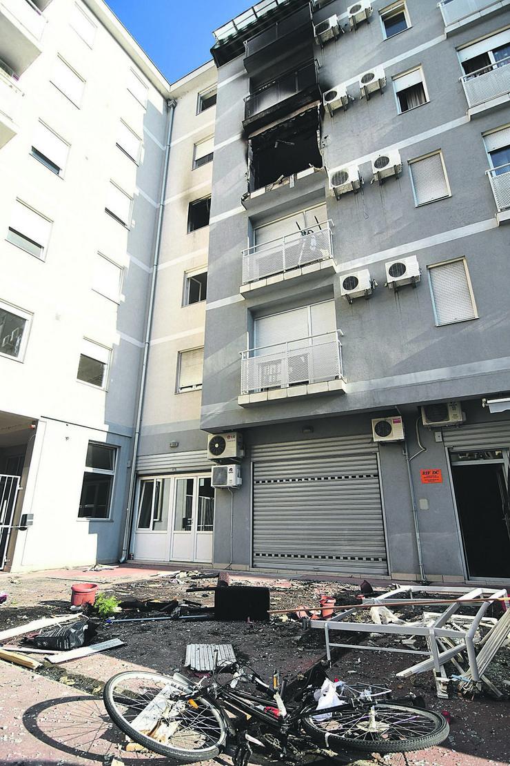 Novi Sad eksplozija u stanu u Ulici Petra Drapšina 49