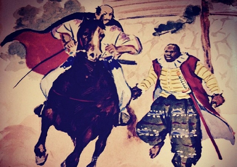 A depiction of Yasuke fighting beside his Japanese warlord master Oda Nobunaga (Photo: face2faceafrica)