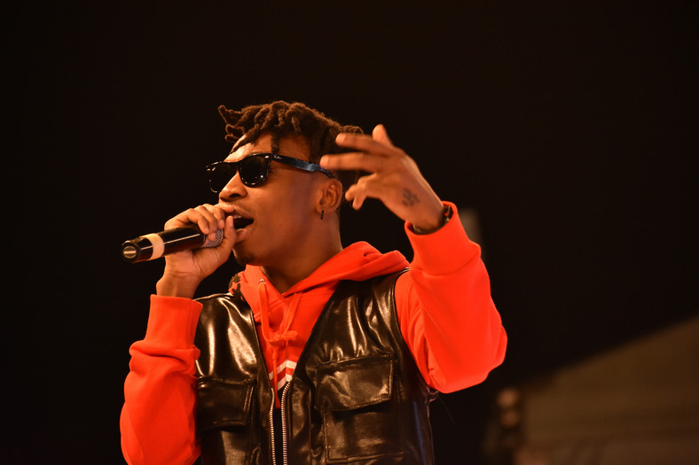 Mayorkun performing at Style By Zenith Fair