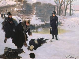 The Duel, 1901 (oil on canvas)