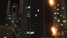 Pożar jednego z najwyższych drapaczy chmur w Dubaju