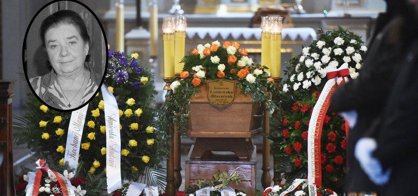 Pogrzeb Katarzyny Łaniewskiej. Pojawił się były mąż, a Jarosław Kaczyński przysłał wieniec