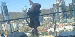 Młoda kobieta w czasie ćwiczeń wypadła z balkonu