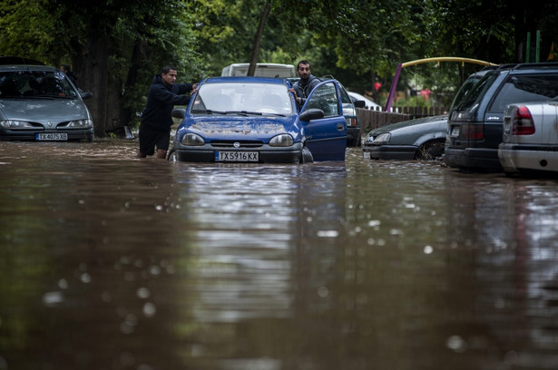 Bułgarię nawiedziły gwałtowne ulewy EPA/STR/PAP