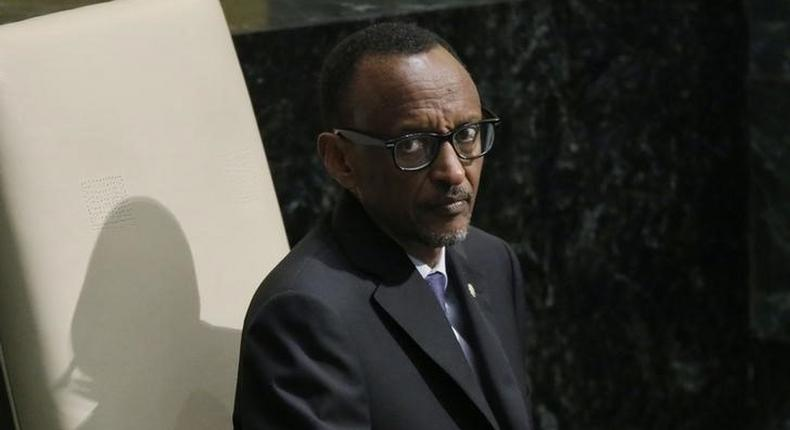 President Paul Kagame of Rwanda waits to address attendees during the 70th session of the United Nations General Assembly at the U.N. Headquarters in New York, September 29, 2015. REUTERS/Carlo Allegri
