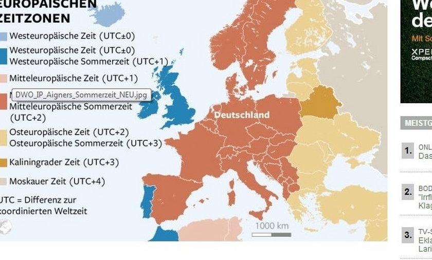 Skandaliczna mapa Wielkie Niemcy