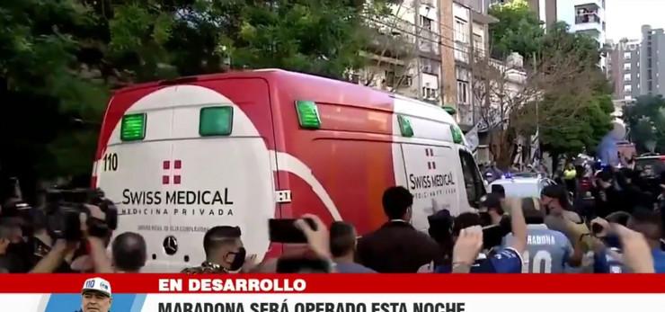 Ambulantna kola koja su vozila Maradonu