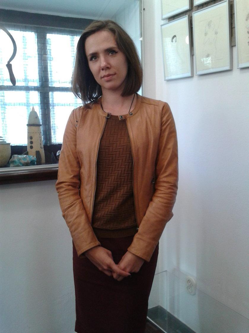 Wiera Jahoudzik (30 l.), artystka z Białorusi