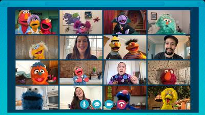 How to Get to 'Sesame Street'? These Days, It's by Video Conference