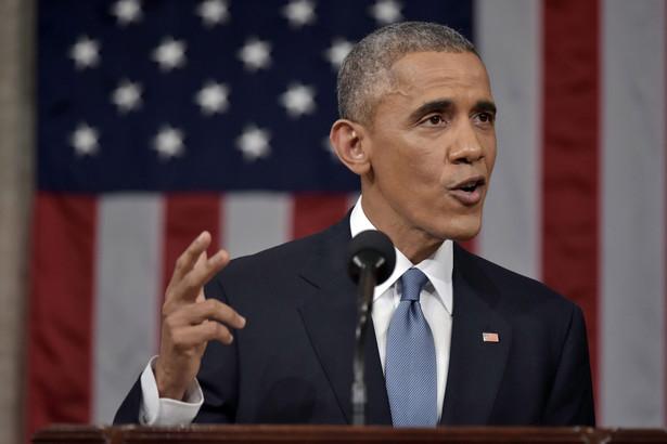 Barack Obama przed połączonymi izbami Kongresu