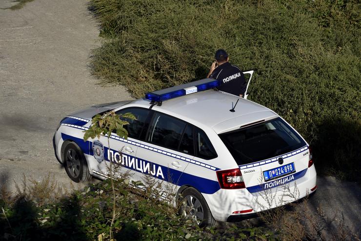 Policija na uviđaju saobraćajne nesreće