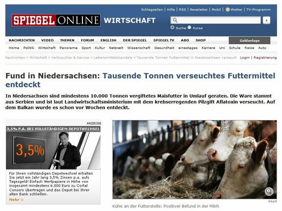 U Nemačkoj otkrivene tone stočne hrane iz Srbije zagađene aflatoksinom