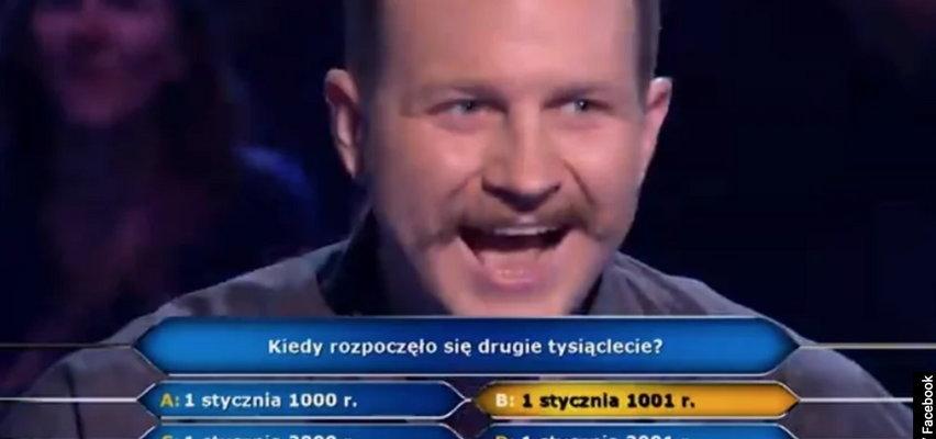 """W """"Milionerach"""" padła główna wygrana! Sprawdź, jakie pytanie usłyszał Jacek!"""