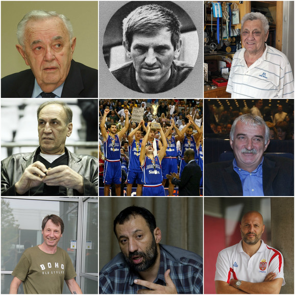 Neke od naših košarkaških legendi - Stanković, Korać, Žeravica, Dalipagić, Kićanović, Slavnić, Divac, Đorđević...
