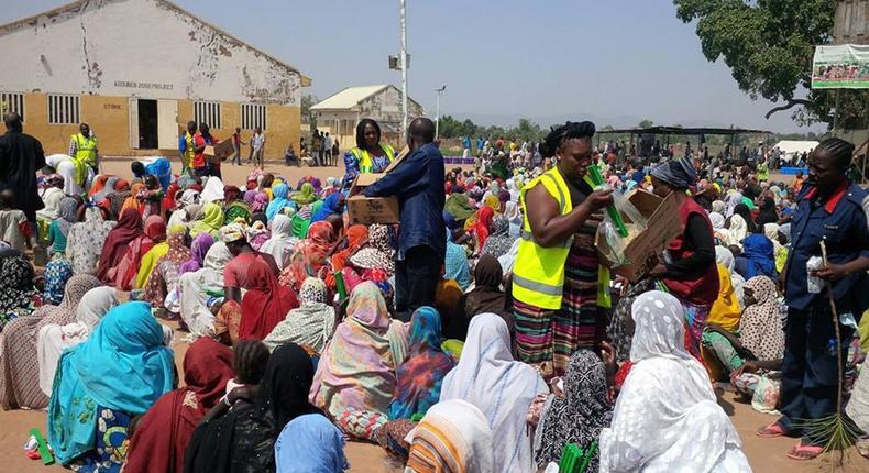 An IDP camp in northern Nigeria.