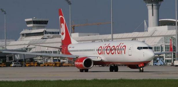 Samolot linii airberlin na lotnisku w Monachium