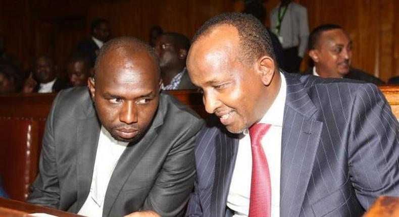 National Assembly leader Aden Duale with Senate Majority leader Kipchumba Murkomen