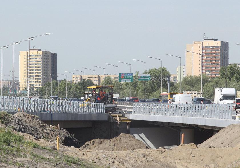 Remont na moście Grota-Roweckiego