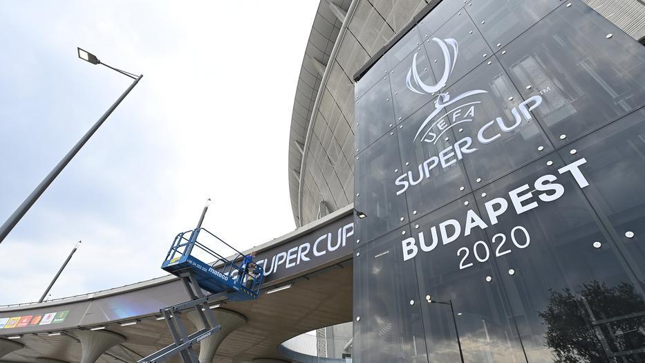 Európai Szuperkupa - A Puskás Aréna a döntő előtti napon / Fotó:  MTI  Illyés Tibor