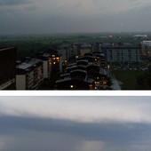 DAN-NOĆ, PA OLUJA Pogledajte kako se nebo na Novom Beogradu promenilo U MINUTU (FOTO)