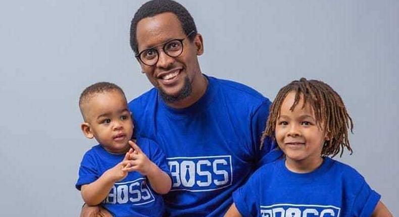 Dan Sonko with his Kids