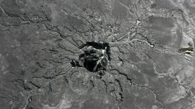 Ogromny lej krasowy pochłonął hektolitry skażonej wody