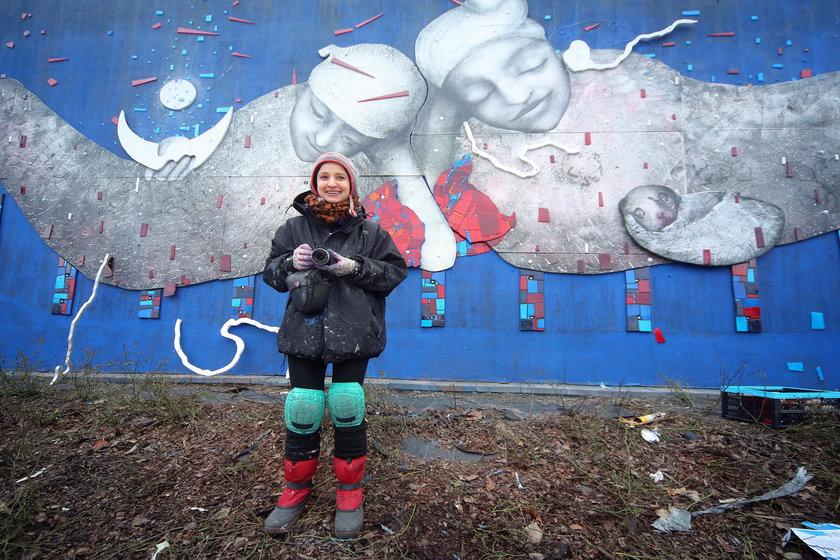 Nowy mural powstał w Łodzi przy Gdańskiej 132 w ramach Uniqa Art Łódź
